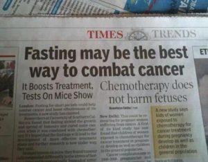 cáncer terapia ayuno