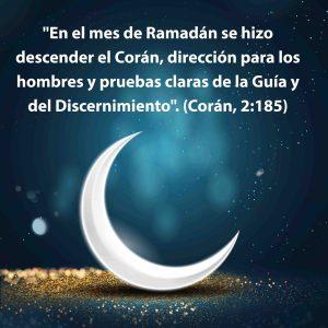 relación Corán mes de Ramadán